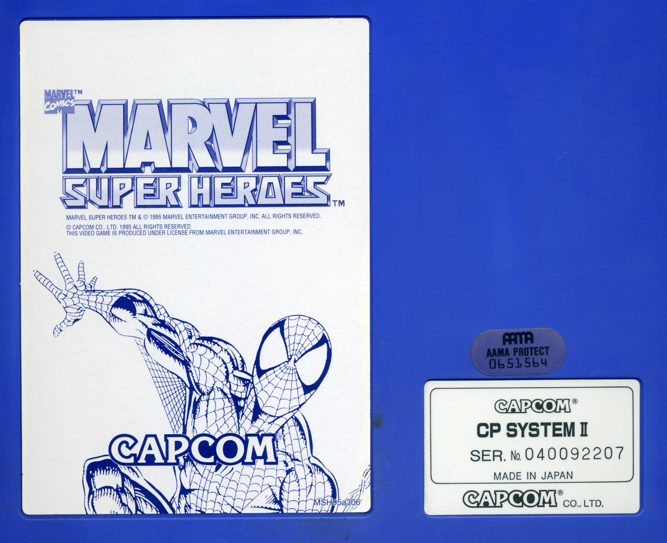 Cps2 Marvel Super Heroes Mvs
